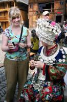 Travel Photos of Miao Minority Foreign Visitors