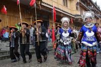 Miao People at Town