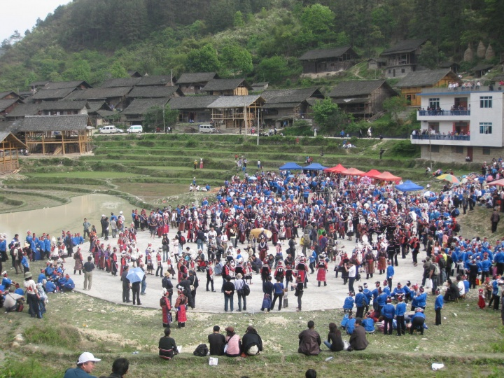 Miao People Group Dancing