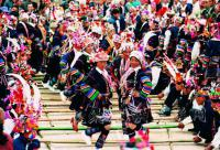 Travel Photos of Hani Minority Bamboo Dance