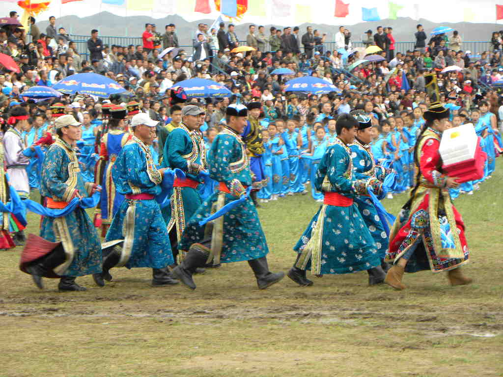 Mongolian people on festival