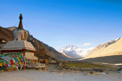 Rongbuk Monastery offers the best view of Mt. Everest