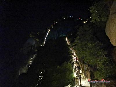 Night Hike Photo in Mount Hua