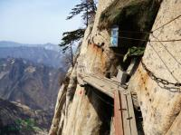 Mt. Hua Plank Road on Dangerous Cliffside