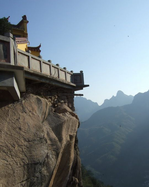 Mt. Jiuhua Temple Over Cliff