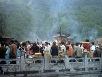 Visitors Buring Incense