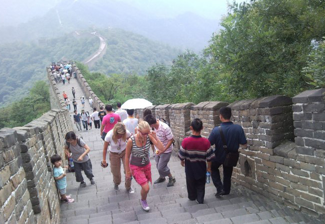 Visitors in Mutianyu Great Wall