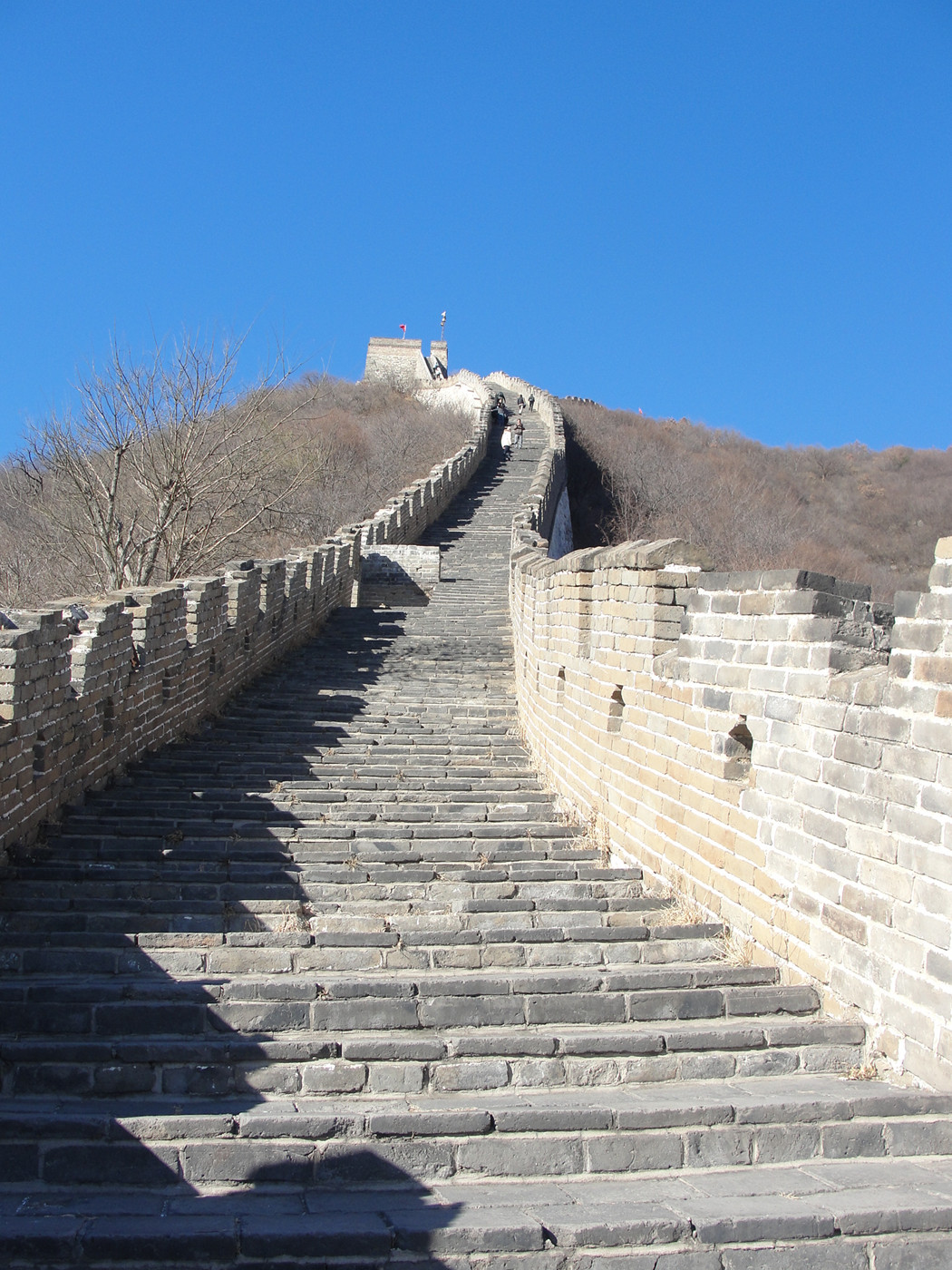 Mutianyu Great Wall with Blue Sky