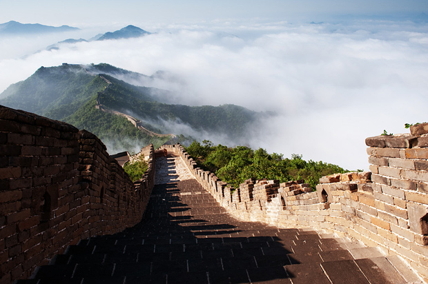 Smoke Wreathed Mutianyu Great Wall