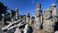 Stone Statues on Mysterious Road