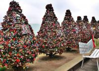 N Seoul Tower love padlock trees