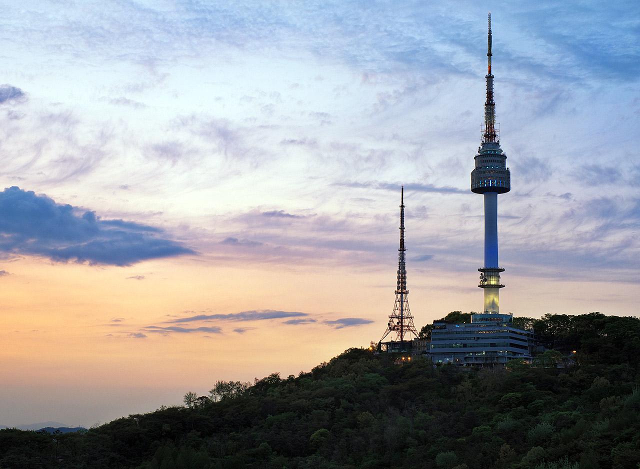 N Seoul Tower on Namsan Mountain, Seoul N Seoul Tower ...
