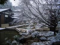 Snow-clad National Tea Museum