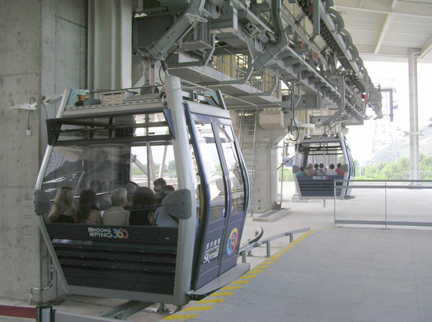 Ngong Ping 360 Visitors in Cable Cars