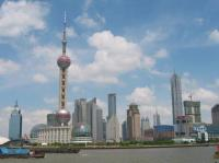Shanghai Oriental Pearl TV Tower Near Huangpu River