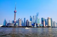 shanghai oriental pearl tower sight by Huangpu River