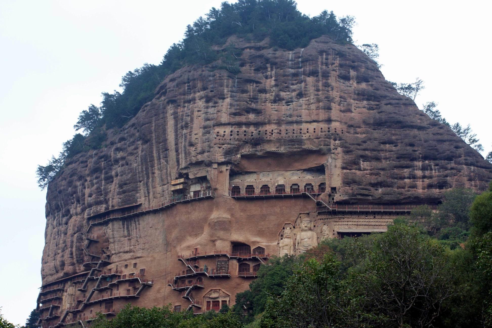 Tianshui China  city photo : ... Grottoes, Tianshui Maijishan Grottoes in Gansu Easy Tour China