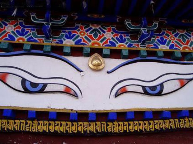 Palkhor Monastery Eye Painting