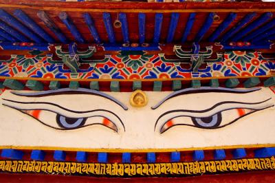 Eyes of Buddha Pelkor Monastery