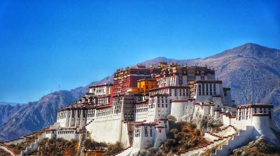 Potala Palace under Blue Sky