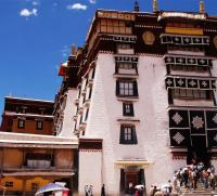 Lhasa Potala Palace with Blue Sky