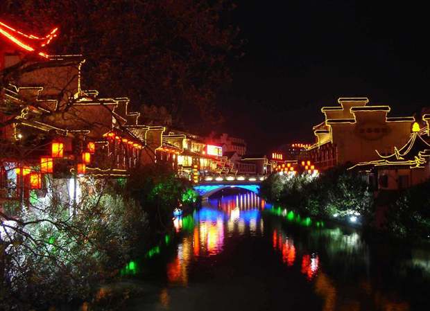 Qin Huai River Night Lights