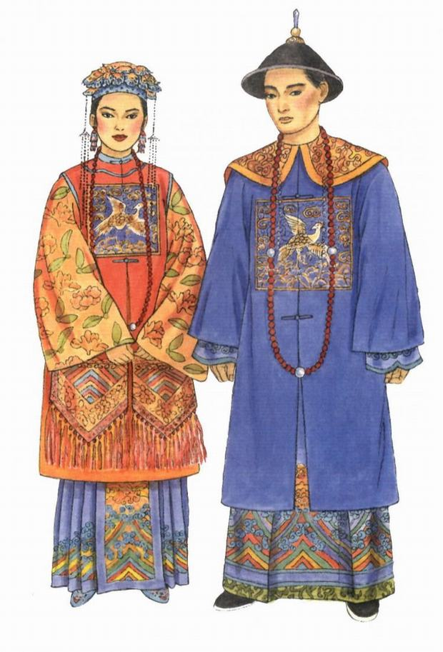 Qing Dynasty Couple