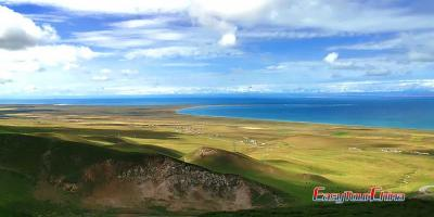 Overlook Qinghai Lake in Xining