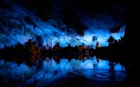 Reed Flute Cave in Blue Color