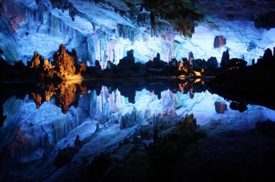 Lake inside Reed Flute Cave