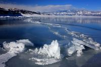 Icy Scenery of Lake