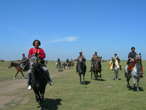 Visitors Riding Horse