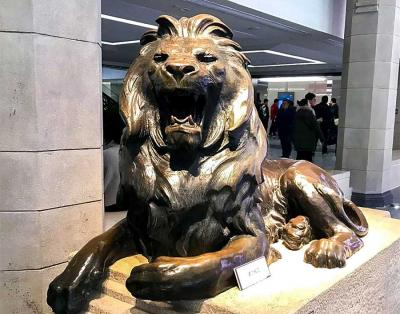 Image & Photo of Lion Sculpture in Shanghai History Museum