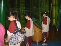 young students in museum
