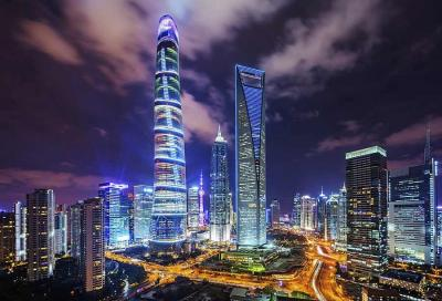 Shanghai Tower Night View
