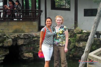 Girls Visited Yu Garden