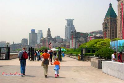 Family Trip to the Bund Shanghai