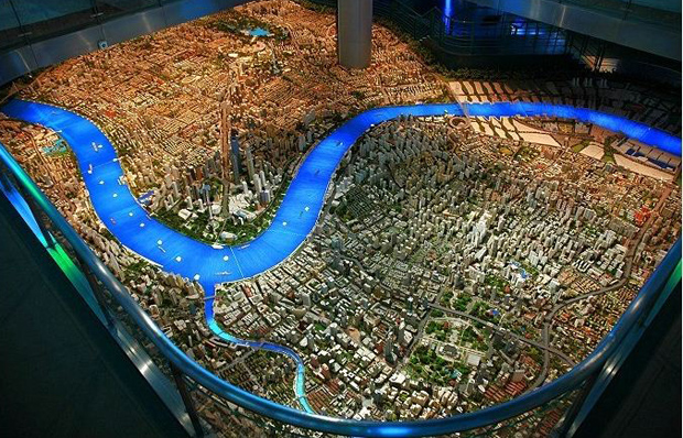 D Art Exhibition China : Shanghai urban planning exhibition hall city model