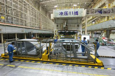 Press Shop of Shanghai Volkswagen Factory