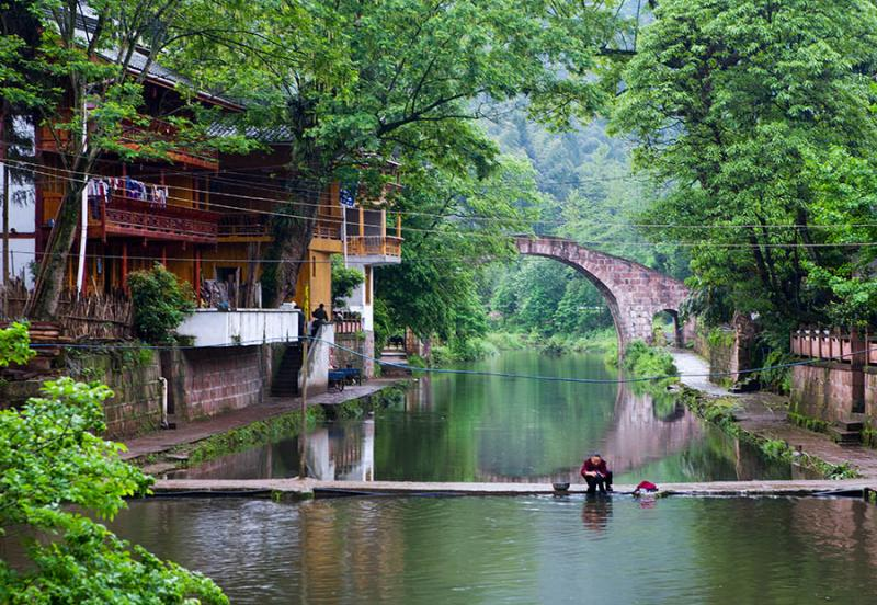 Shangli China S Qing Dynasty Ancient Town In Ya An