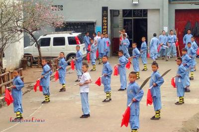 Take a Kung Fu lesson at a school of Shaolin Temple
