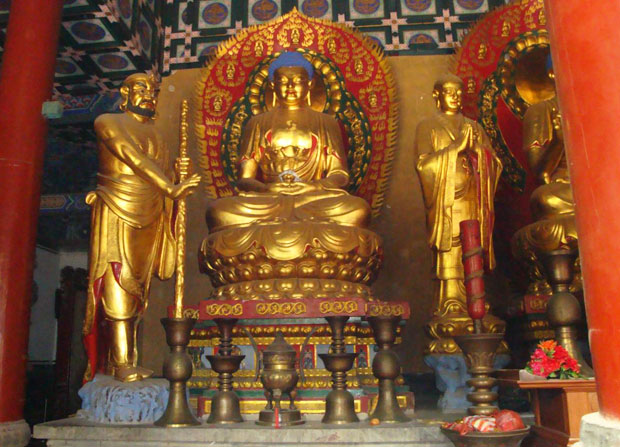 Golden Buddha Sculpture
