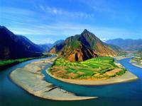 U-shaped Bend of Yangtze River