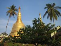 Golden peak of Shwemawdaw Pagoda