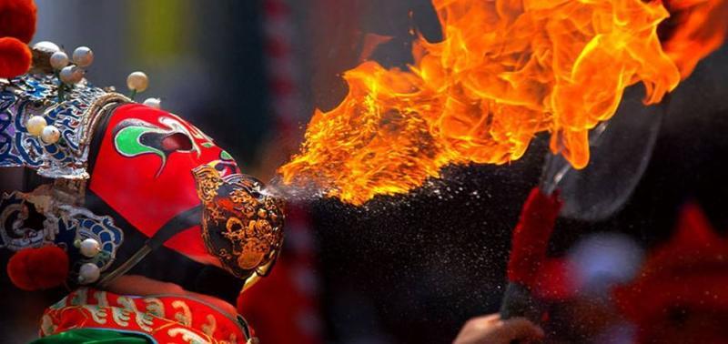 Chinese opera mask tricks