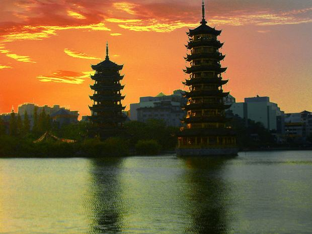 Six Harmony Pagoda Sunset