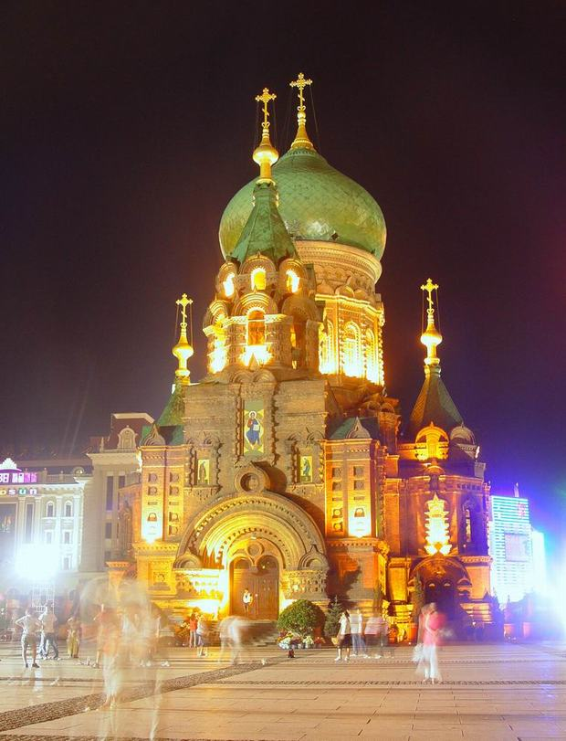 St. Sophia Church Night View