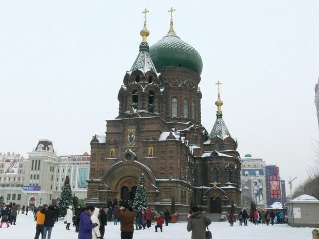 St. Sophia Church Snowscape
