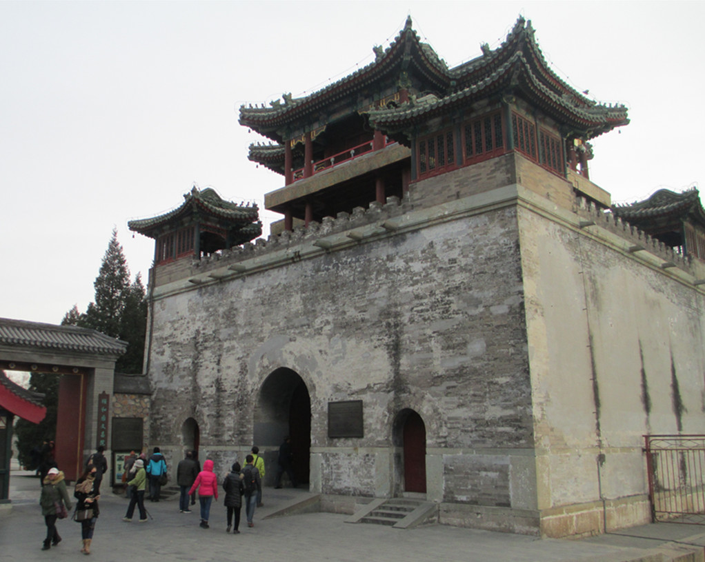 Stone Building in Summer Palace of China