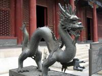 The Dragon Sculpture in Beijing Summer Palace
